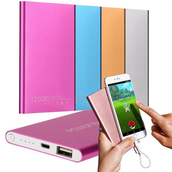 Mobile Power Factory Price Hot Selling New Ultrathin 12000mAh Portable USB External Battery Charger Power Bank For Cell Phone
