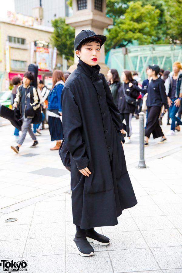 all black streetwear style ... Babuun   30 December 2017   #Fashion #Harajuku (原宿) #Shibuya (渋谷) #Tokyo (東京) #Japan (日本)