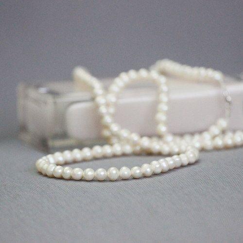 Dlouhý perlový sladkovodní náhrdelník Ag 925