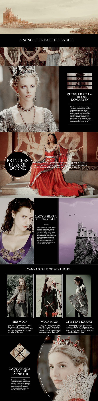 A Song of Pre-Series Ladies #asoiaf