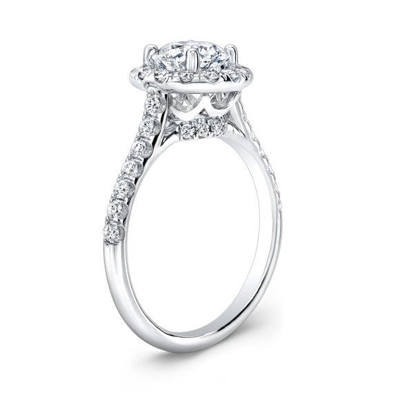 Ladies 14kt diamond engagement ring with 1.50ct round by EVSdesign