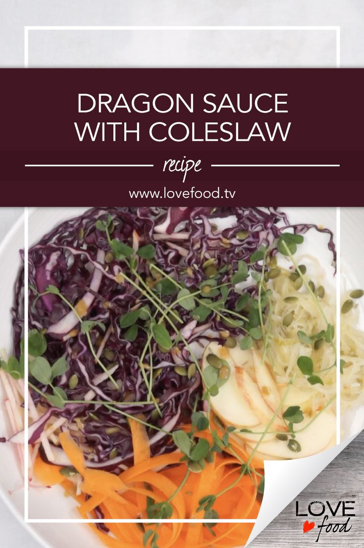 Dragon Sauce with Coleslaw