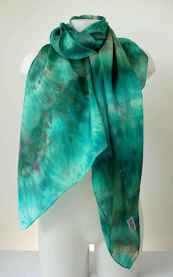 WOMENS LADIES BUTTERFLY BOLD PRINT SEA GREEN SOFT SCARF WITH FEATHERED EDGE