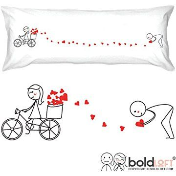 BOLDLOFT All My Love for You Body Pillow Cover- Boyfriend Gifts, Husband Gifts, Valentines Day Gifts for Him, Valentines Presents, His and Hers Gifts, Gifts for Couples, Matching Couple Gifts