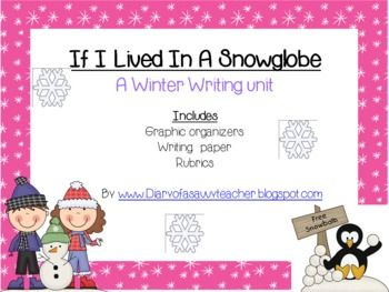 Stuck in a Snow Globe Writing Activity Sheet