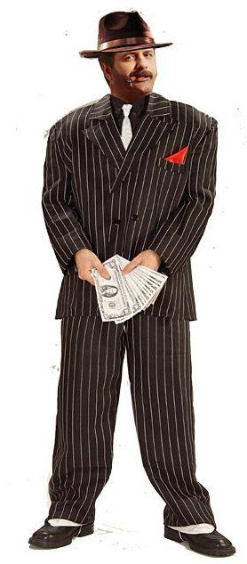 Plus Size Chicago Gangster Costume - Candy Apple Costumes