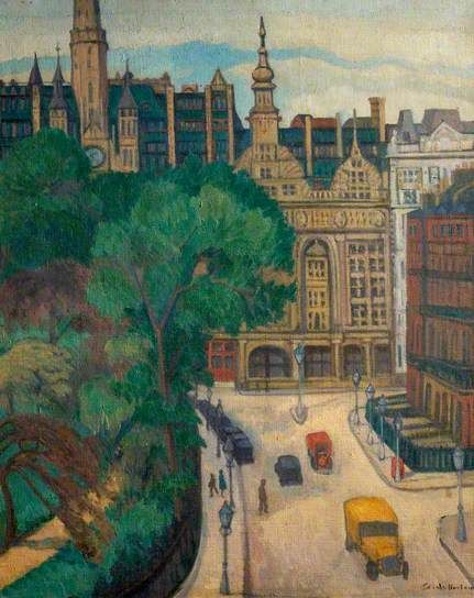 Stanisława de Karłowska (1876-1952) Imperial Hotel, Russell Square, London. ca.1931 (Nottingham City Museums and Galleries) The artist lived at 46 Russell Square from 1936.