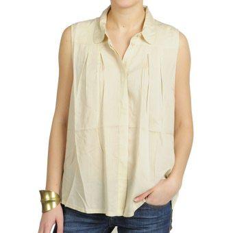 blusa larga crema