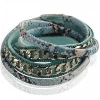 Blauwe brede magneet armband voor 15,95 bij www.deoorbel.nl