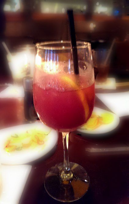 Red Sangria at P.F. Chang's -- Absolut Mandarin Vodka and merlot mixed with fresh fruit #sponsored