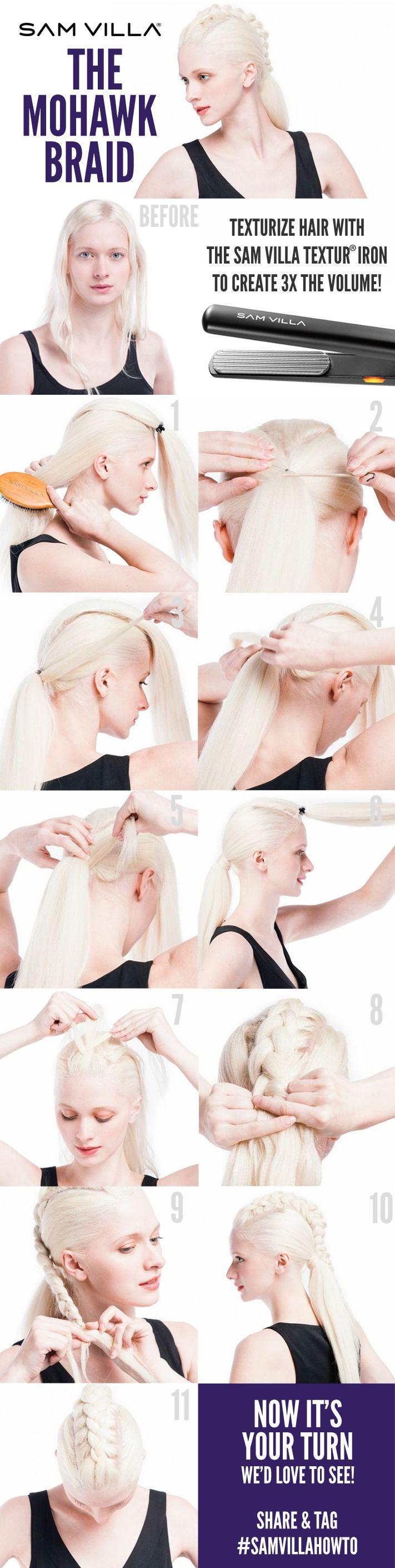 Sam Villa Step-By-Step - The Mohawk Braid Hairstyle