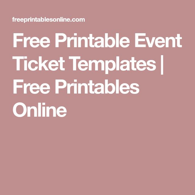 25 unique event ticket template ideas on pinterest event ticket free printable event ticket templates free printables online yadclub Gallery
