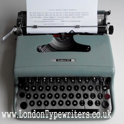 1960's classic Olivetti Lettera 22 vintage manual typewriter. Iconic piece of Italian design. For sale on www.LondonTypewriters.co.uk! #londontypewriters #vintage #vintagesale #vintagedecor #vintagetypewriter #retro #prop #literature #poetry #retrodecor #collectable #typewriter #typewriterfont #keys #old #london #uk #nofilter #italian #design #olivetti
