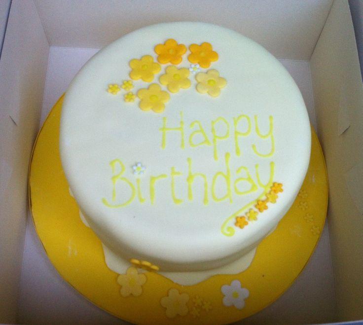 Simple lemon birthday cake