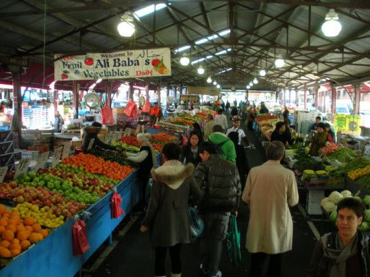 Market in Melbourne, Australia.