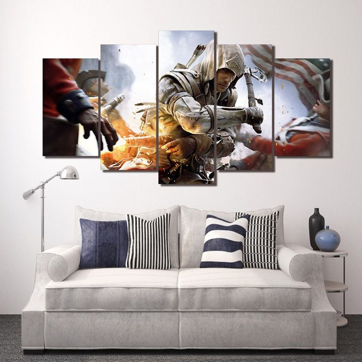 Style Your Home Today With This Amazing 5 Panel Assassin's Game Character Framed Canvas Wall Art For $44.00  Discover more canvas selection here http://www.octotreasures.com  If you want to create a customized canvas by printing your own pictures or photos, please contact us.