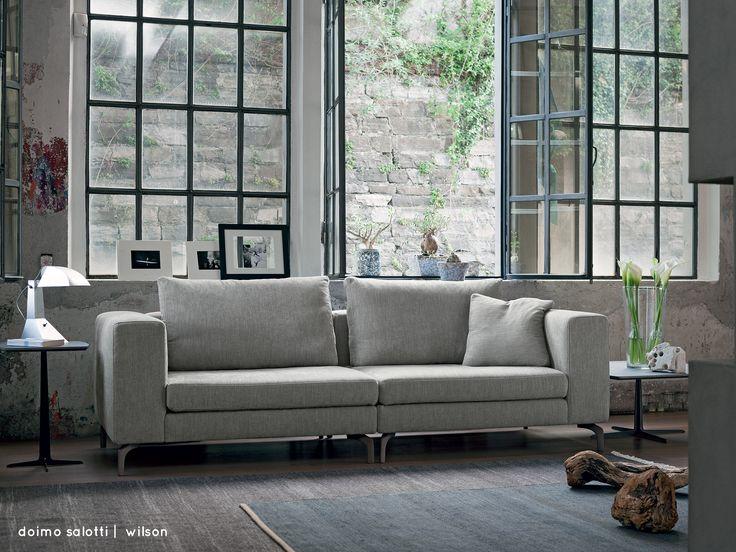 Wilson è un divano di grande versatilità, con forme definite e facilmente modulabile. I cuscini di schienale in misto piuma conferiscono un ottimo e confortevole appoggio. Guarda la gallery su: www.doimosalotti.it  doimo doimosalotti