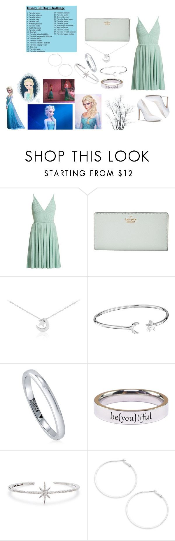"""""""Day 29- Favorite overall moment: Elsa unfreezing Anna"""" by catie-hamilton227 ❤ liked on Polyvore featuring Disney, Elie Saab, Kate Spade, Alex and Ani, BERRICLE, Pink Box, APM Monaco, Design Lab, disney and disneybound"""