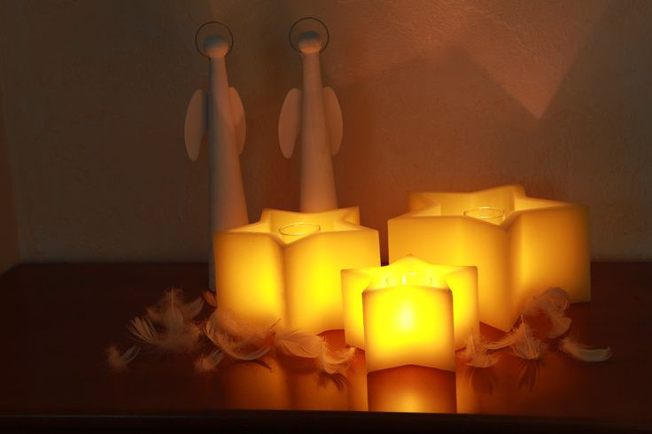 Lantern with the shape of the star. Look great not only on the christmas table