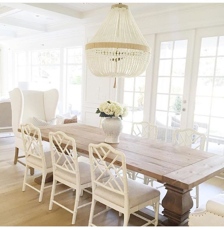 warm white wood table beaded chandelier look at dining table design