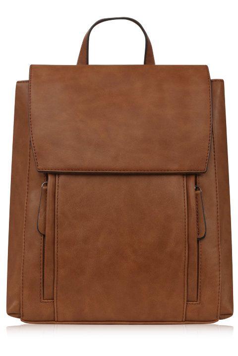 Женский рюкзак оптом | LEON - коричневый рюкзак от TRENDY BAGS