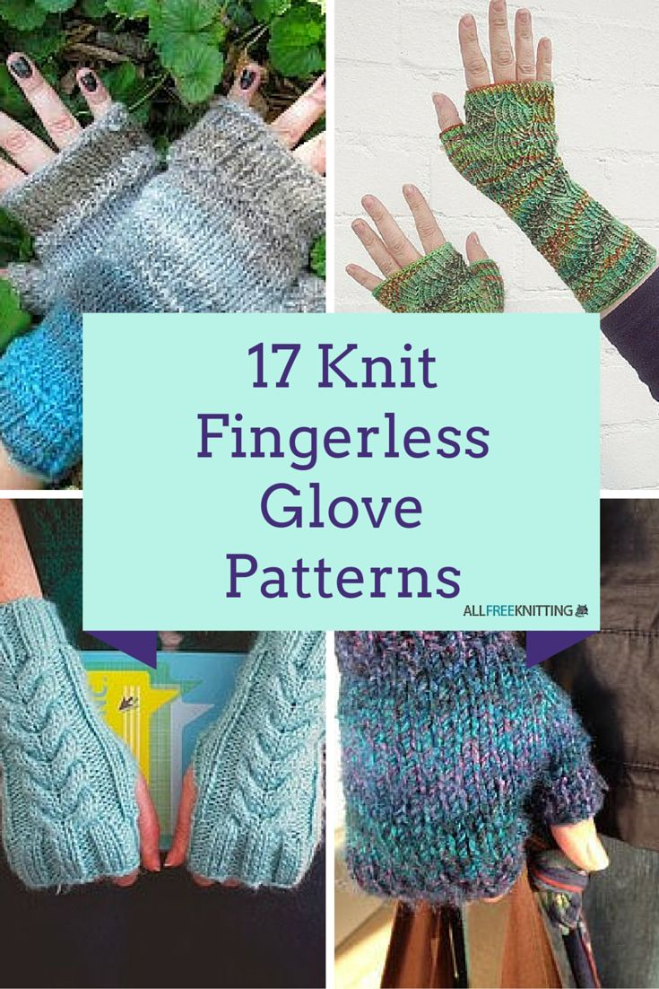Fingerless gloves darn yarn - 17 Knit Fingerless Glove Patterns Allfreeknitting Com