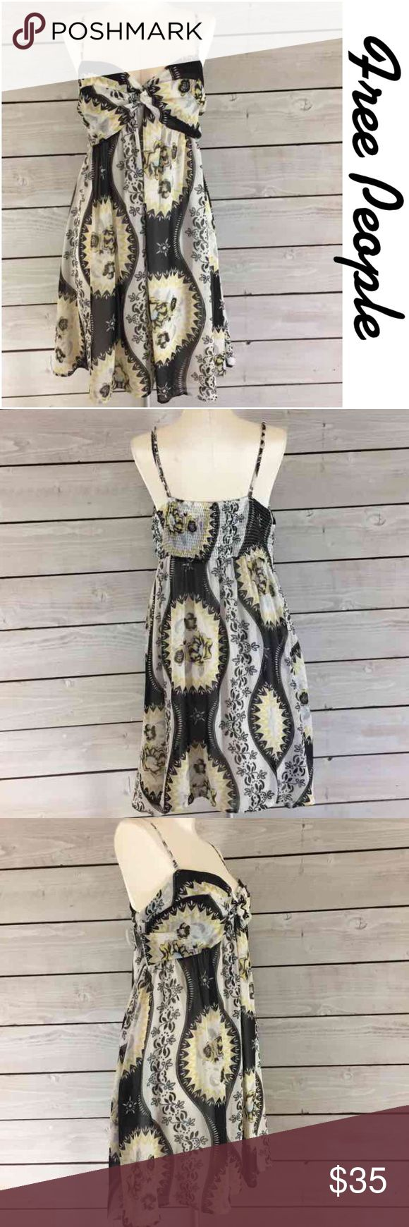 """Free People Print Dress.  Perfect for Summer. Free People Print Dress.  Perfect for Summer.  Loose fit from under bust.  Comfy. Flat lay measurements.  Between under arms 16.5"""". length 33.5"""". Summer Perfect. Free People Dresses"""