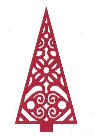 Swirly Christmas tree silhouette by hilemanhouse on Etsy, $1.99