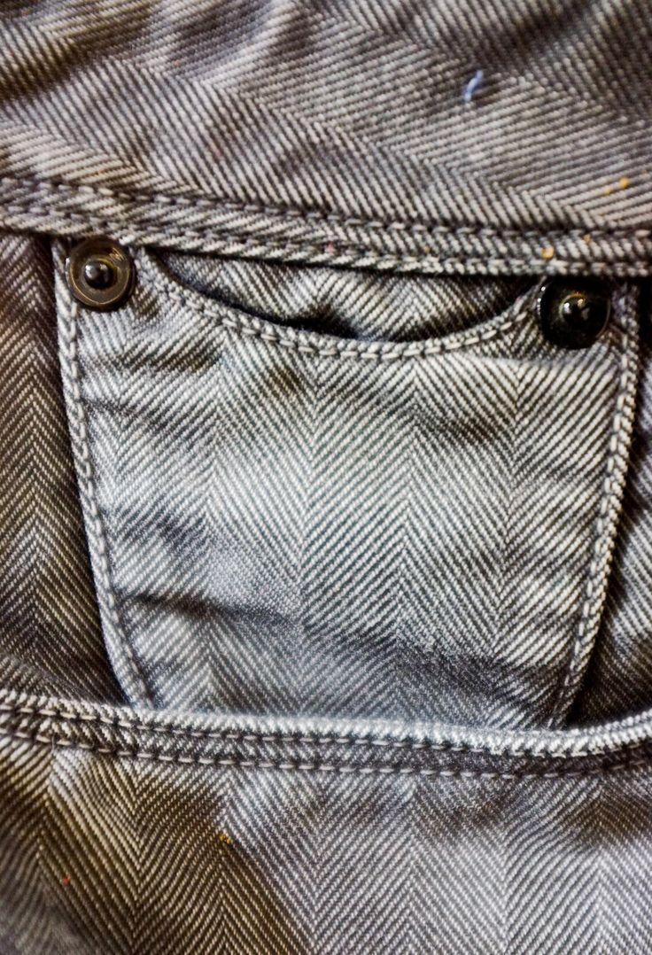 #denim #jean #broken #detail #coin #pocket #rivet