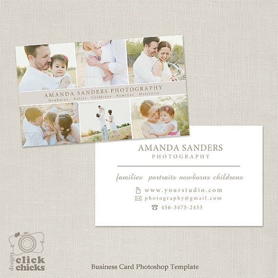 Photography Business Card Template for Photographers -004 - C240, INSTANT DOWNLOAD