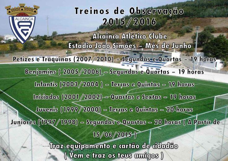 Alcainça Atlético Clube | Futebol e outras modalidades