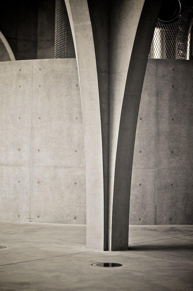Tama Art University Library - Tokyo, Japan - Toyo Ito. Concrete column