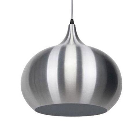 KIRKE Aluminium Pendant Light - silver pendant light | SHE Lights