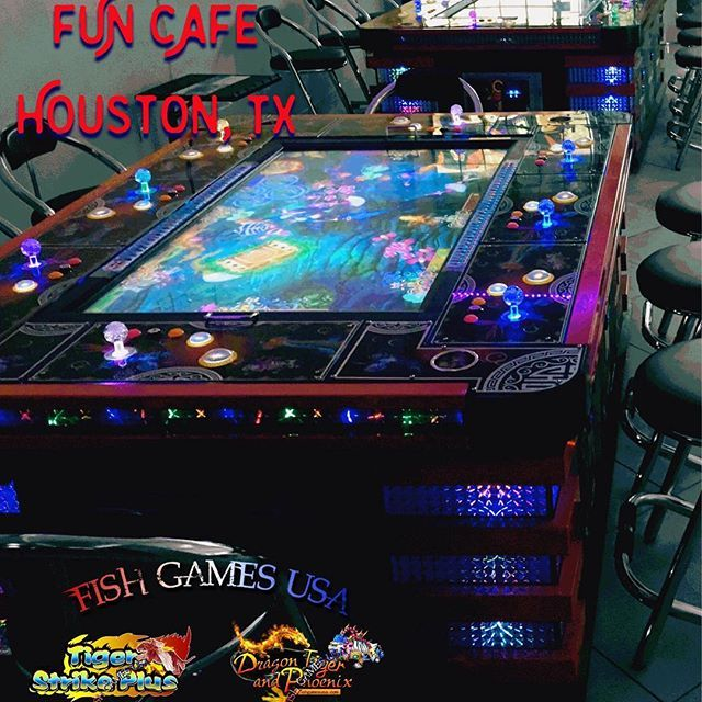 Shout out to our new friends at #FUN #CAFE in #Houston, #Texas. They are hosting a DRAGON, TIGER, and PHOENIX™️ & a TIGER STRIKE PLUS™️ the #2017 sequel to our best game of 2016! Be among the first to #play these highly anticipated #video #arcade #game machines. Call us today to have your very own! #FishGamesUSA ------------------------- Phone: +1 (713) 239-9582 Email: sales@FishGamesUSA.com Website: www.FishGamesUSA.com ------------------------- #fishgame #videogames #gaming #sweeps…