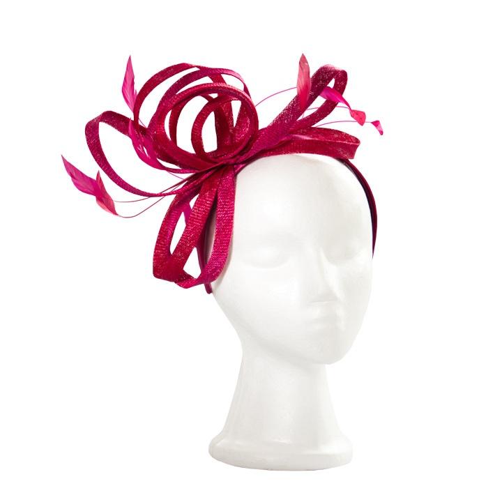 Pink fascinator / Tocado rosado