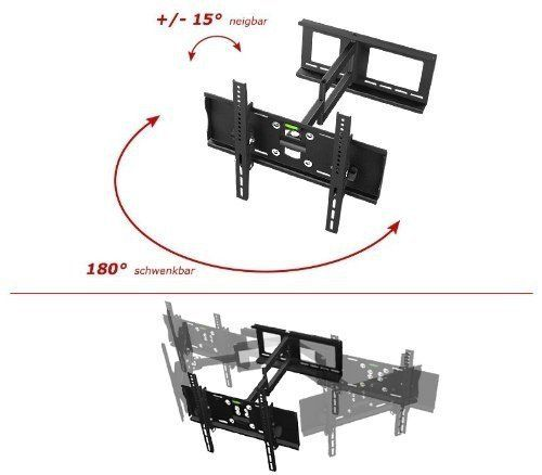 "Support TV Mural orientable inclinable R23 murale fixation télévision support mural TV LED LCD Support ecran plat TV support muraux TV supports écrans plats support universel TV support mural TV orientable support VESA | 200x200 | 400x400 | pour 76cm/30"" 81cm/32"" 94cm/37"" 102cm/40"" 107cm/42"" 112cm/44"" 117cm/46"" 120cm/47"" 127cm/50"" 140cm/55"" 160cm/63"" 165cm/65"" pouces Support..."