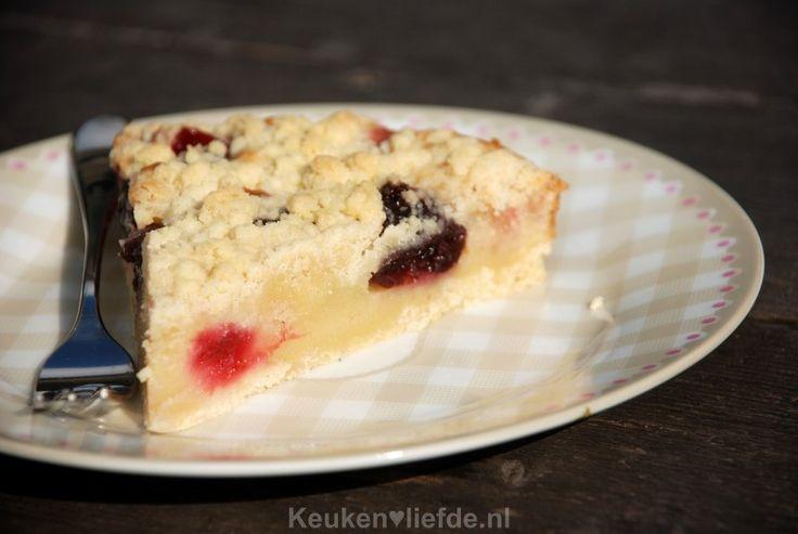 Frambozen kruimeltaart - Keuken♥Liefde