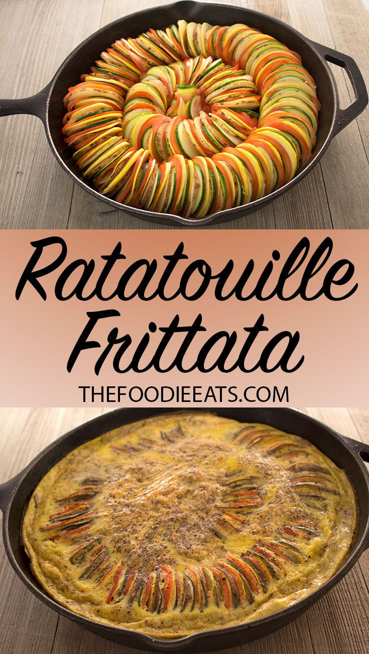 Ratatouille Frittata | Whole30 | Gluten-Free | Dairy-Free | One-Pan Meal | Breakfast | Brunch | Mother's Day Brunch via @thefoodieeats