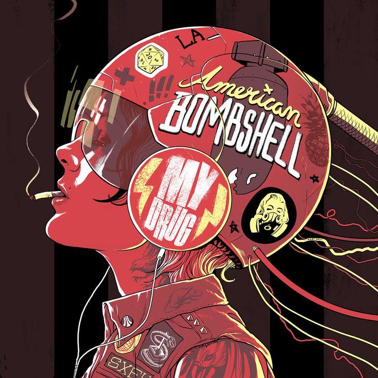 """American Bombshell 7"""" Album Artwork on Behance"""