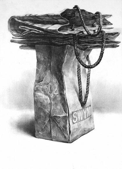 SHADING - TEXTURE 紙袋 デッサン Drawing dessin