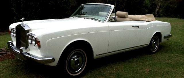 1973 White Rolls Royce Shadow Convertible