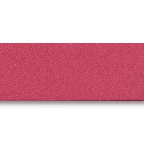 This is a TierraCast fuchsia colored leather bracelet strap. These straps are 10 inches long and 1/2 inches wide perfect for use as a component for leather braclets. Use TierraCast leather findings for best results including rivets or snap fasteners to create amazing bracelets.