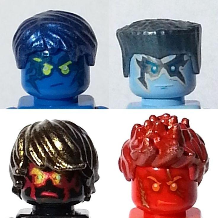 Hair for your lego ninjago minifigures nrg jay cole zane - Ninjago kai jay zane cole lloyd ...