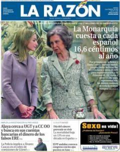 ESPAGNE • Chaque Espagnol débourse 16 centimes par an pour la monarchie