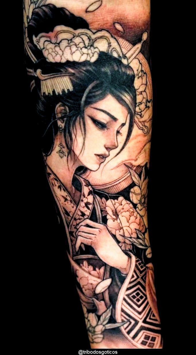 Tattoo Ideas Female Full Arm In 2020 Geisha Tattoo Geisha Tattoo Design Tattoos