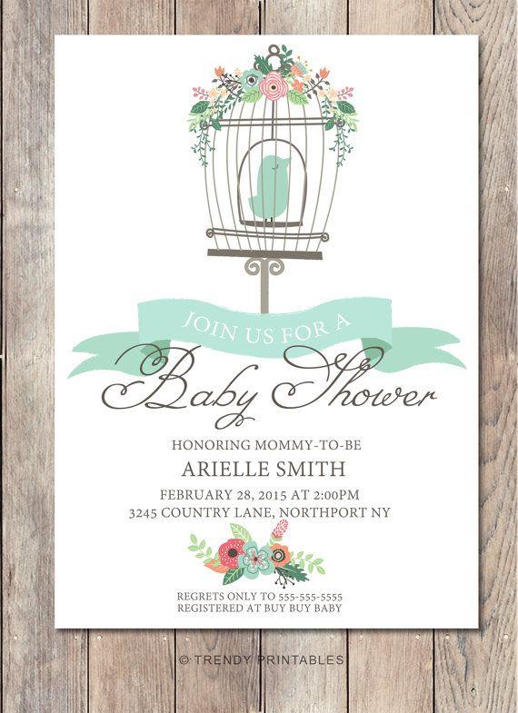 Hey, I found this really awesome Etsy listing at https://www.etsy.com/listing/221245498/boy-baby-shower-invitation-bird-baby