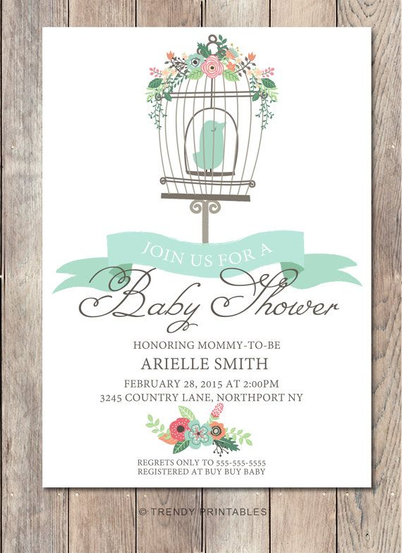 Hey, I found this really awesome Etsy listing at https://www.etsy.com/listing/221245498/boy-baby-shower-invitation-bird-baby