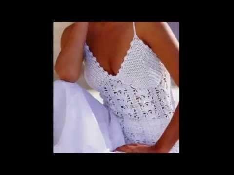 Top Blanco Con Tirantes a Crochet - YouTube