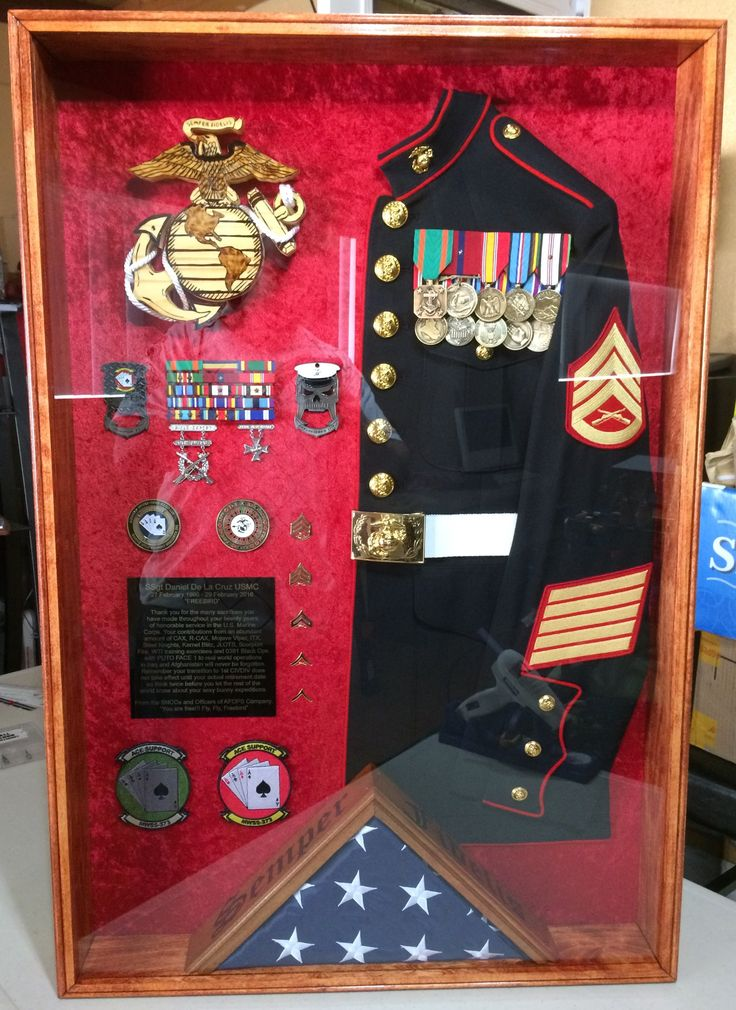 Retirement Party Ideas >> USMC shadow box Questions on design or price contact Lunawood1775@gmail.com | Military Shadow ...