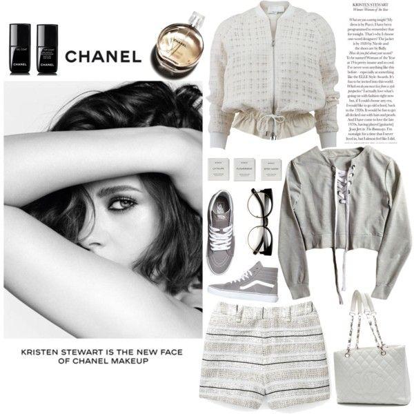 Kristen Stewart:Chanel by incidentallyimadesigner on Polyvore featuring мода, 3.1 Phillip Lim, Rebecca Minkoff, Chanel, ZeroUV, Vans and Byredo